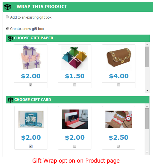 Magento 2 Gift Wrap options