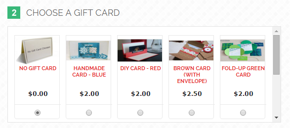 Integrated Gift Card